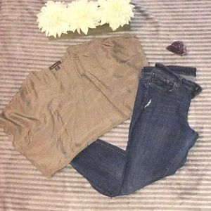 Gap distressed super skinny jeans